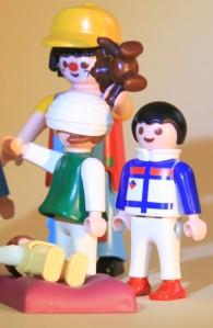 Clown mit kranken Kindern